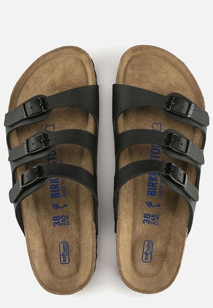 Birkenstock Florida Soft slippers zwart